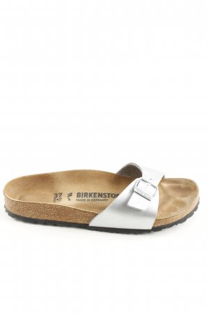 Birkenstock Beach Sandals silver-colored casual look