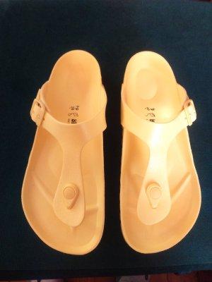 Birkenstock High-Heeled Toe-Post Sandals yellow