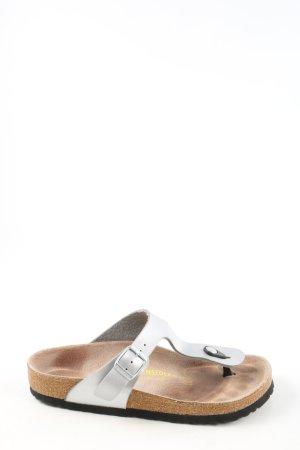 Birkenstock Sandalo toe-post argento stile casual