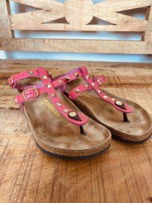 Birkenstock Sandalen met bandjes roze-neonroos Leer