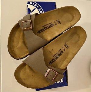 Birkenstock Sandały z rzemykami szaro-brązowy-jasnobrązowy