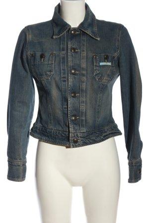 Biscote Veste en jean bleu style décontracté