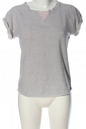 Biscuit Short Sleeve Sweater light grey flecked casual look