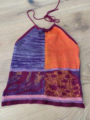 Bisou Bisou Top senza maniche multicolore Tessuto misto