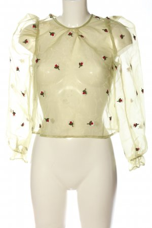Bisou's Project Transparante blouse veelkleurig casual uitstraling