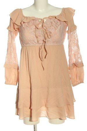 Bisous Project Sukienka mini nude W stylu casual