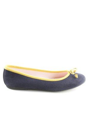 Bisue Ballerinas faltbare Ballerinas blau-blassgelb Casual-Look