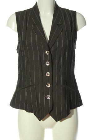 Bitte Kai Rand Chaleco de vestir negro estampado a rayas estilo «business»