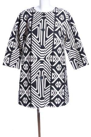 Bitte Kai Rand Kurzmantel weiß-schwarz grafisches Muster Casual-Look