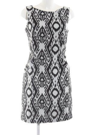 Bitte Kai Rand Midi-jurk wit-zwart volledige print zakelijke stijl