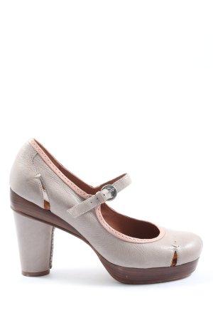 Biviel Escarpins Mary Jane gris clair-rose style décontracté