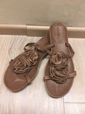 Biviel Flip-Flop Sandals brown leather