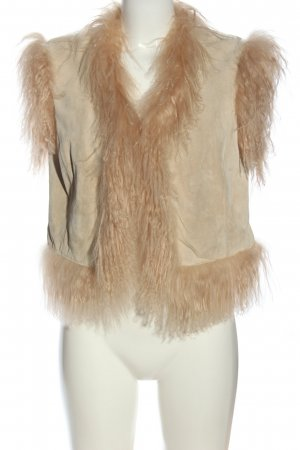 Bixby & Jade Fake Fur Vest cream-nude casual look