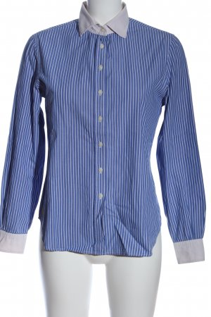 Bixby & Jade Long Sleeve Shirt blue-white striped pattern business style