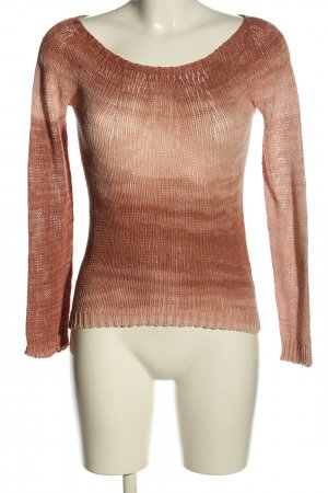 Bixby & Jade Knitted Sweater brown color gradient casual look