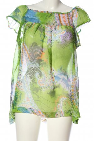 Bixby & Jade Transparante blouse abstract patroon casual uitstraling