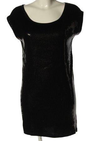 Bizzbee Sukienka mini czarny Warkoczowy wzór Elegancki