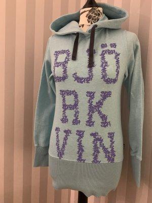 Björkvin Hooded Sweatshirt cornflower blue-turquoise