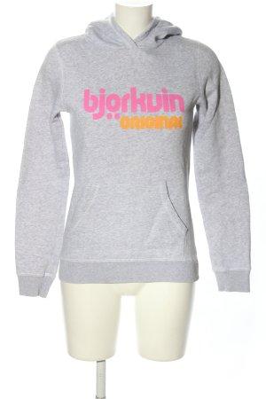 Björkvin Hooded Sweater light grey flecked athletic style
