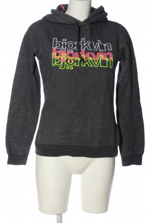 Björkvin Hooded Sweatshirt light grey flecked casual look