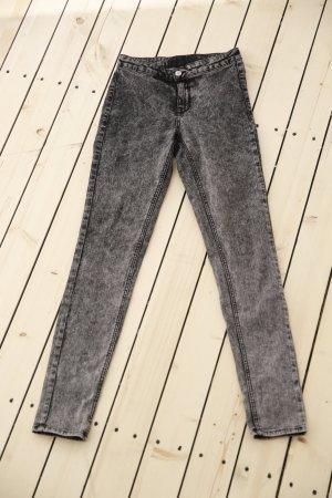 H&M Hoge taille jeans zwart-zilver