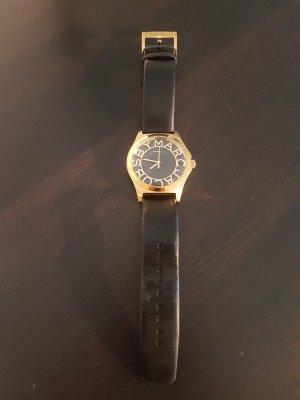 Marc Jacobs Orologio con cinturino di pelle nero-oro