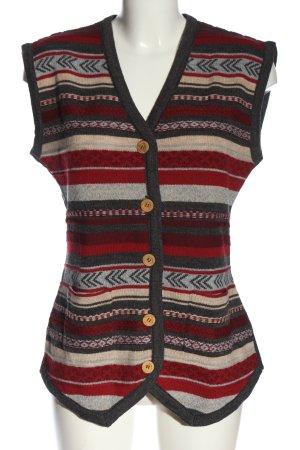 Black Apple Gilet tricoté Mélange de motifs style décontracté