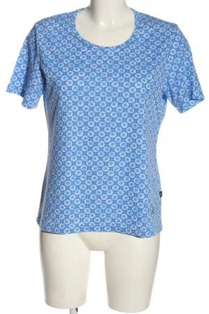 Black Bear T-shirt blauw volledige print casual uitstraling
