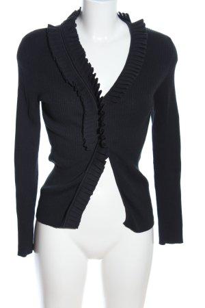 Black Diamond Veste en tricot noir style décontracté