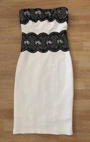 Black Diamond Sukienka etui biały-czarny