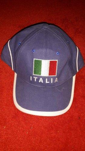 0039 Italy Béret bleu fluo coton