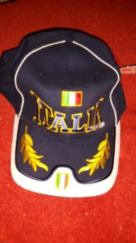 0039 Italy Casquette de baseball bleu coton