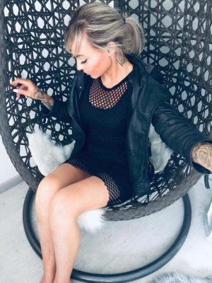 ⋙•-•-•-•➤Sexy Damen Netzkleid in schwarz Neu m. Etikett 36/38 ◉
