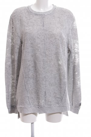 Black Kaviar Oversized Pullover hellgrau meliert Casual-Look