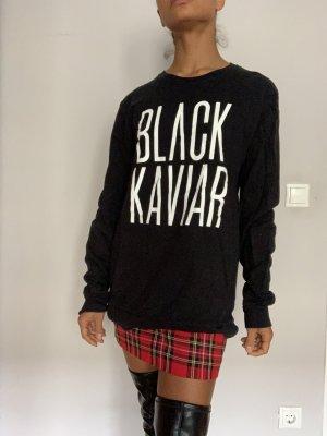 Black Kaviar Pullover schwarz