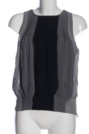 Black Label Blusa senza maniche grigio chiaro-nero stile casual