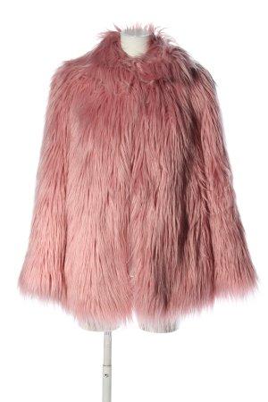 Black Label Cappotto in eco pelliccia rosa elegante