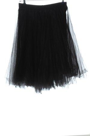 Black Label Rundholz Falda de tul negro look casual