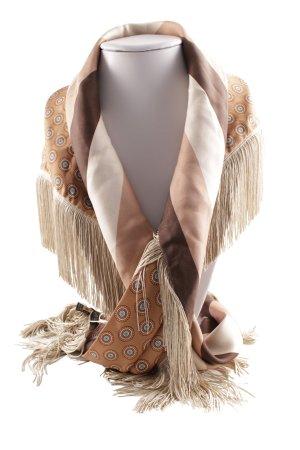 Black Label Silk Scarf striped pattern vintage look