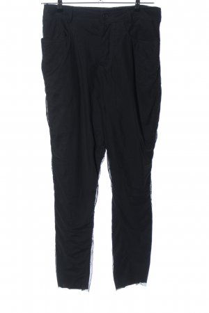 Black Label Stoffhose schwarz Casual-Look
