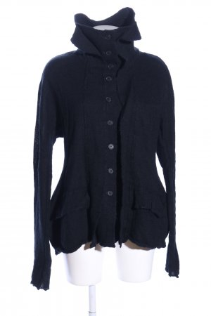 Black Label Strickjacke blau Casual-Look