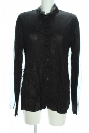 Black Label Transparenz-Bluse schwarz Casual-Look