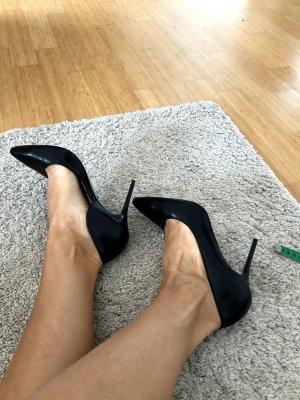 Black leather pumps size 38,5