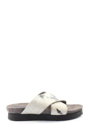 Black Lily Sandalo comodo bianco-nero motivo astratto stile casual