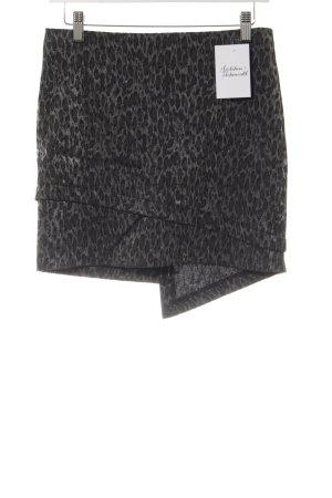 Black Lily Mini rok dierenprint Gelaagde stof detail