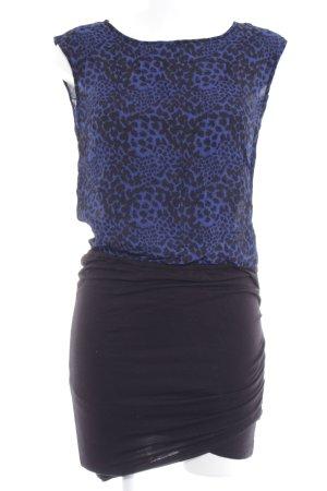 Black Lily Stretch jurk blauw-zwart luipaardprint