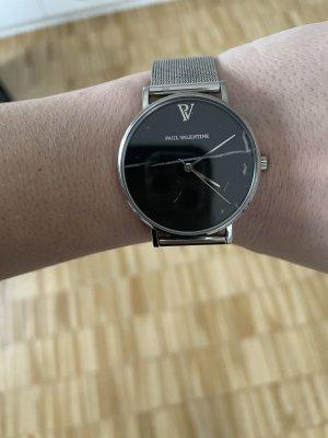 Paul Valentine Reloj con pulsera metálica color plata-negro