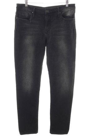 Black Orchid Wortel jeans zwart casual uitstraling