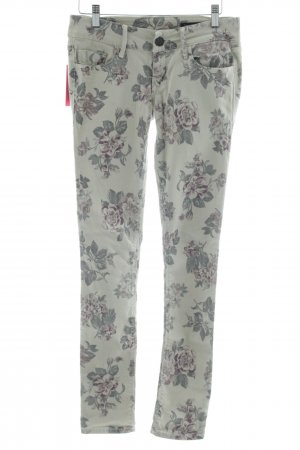 Black Orchid Skinny Jeans hellgrau-khaki Blumenmuster Casual-Look