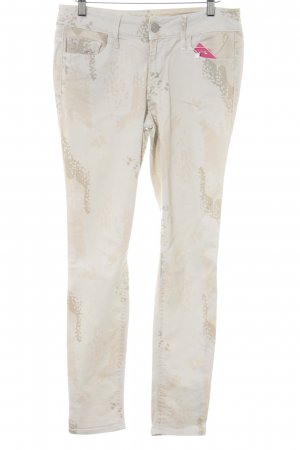 Black Orchid Slim jeans licht beige-room abstract patroon casual uitstraling